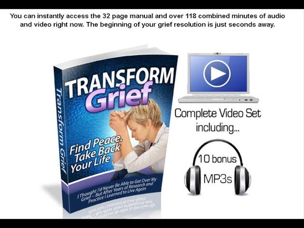 Transform Grief Review 2018- Its A 3 Step Plan : Learn , Apply , Transform Your Grief