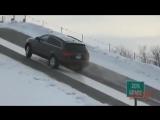 Lexus против Aud против Acura, на скользком подьеме в 30 градусов