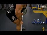 Тренировка мышц спины.