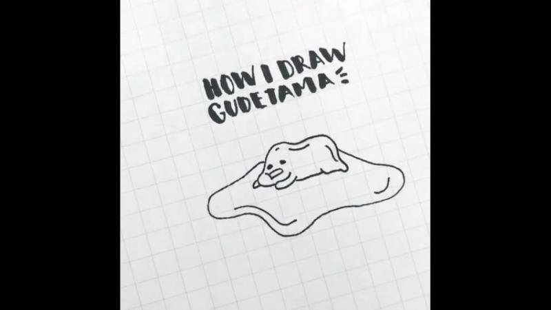 How I draw Gudetama - 2
