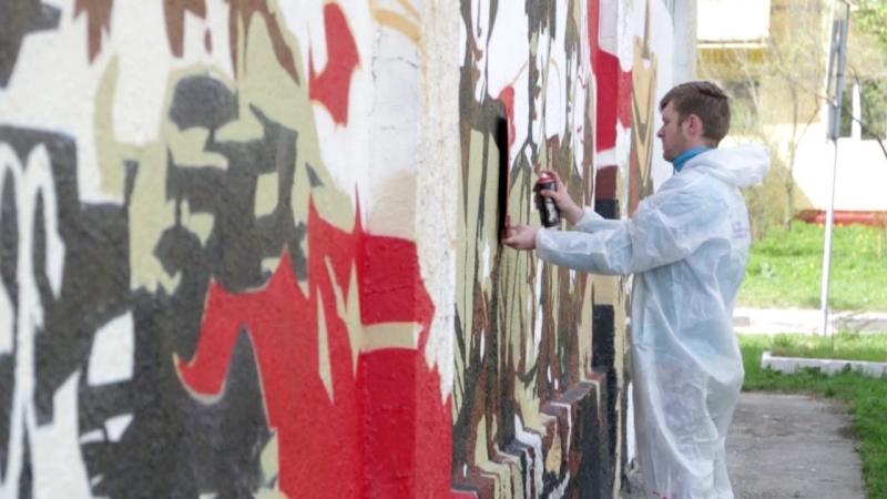 Граффити к 9 мая от Студии рисунка и живописи