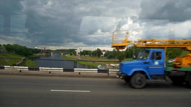 Через мост Блохина на старом трамвае, 24.VI.2017г.