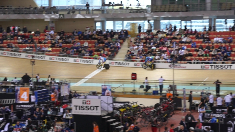 UCI Track Cycling World Cup V.Men's Sprint.1/16 Finals .Tkachev Aleksei(LOK) - Wagner Robin(CZE) 10.678