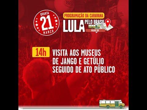 Lula e Dilma visitam São Borja, terra de Getúlio Vargas, João Goulart e Brizola.