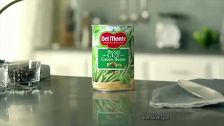 what's in a can of del monte green beans?