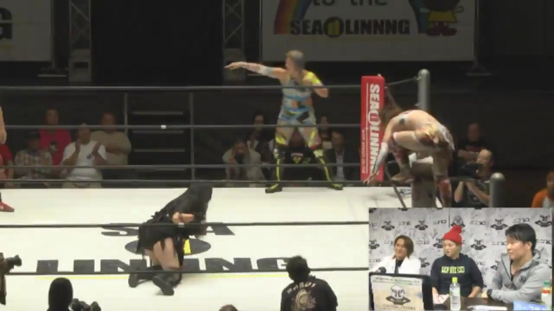 Manami Toyota, Nanae Takahashi vs. Tsukasa Fujimoto, Yoshiko (SEAdLINNNG - d-Higher)