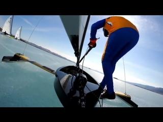 Ice Sailing in Siberia! Зимний парусный спорт на Байкале