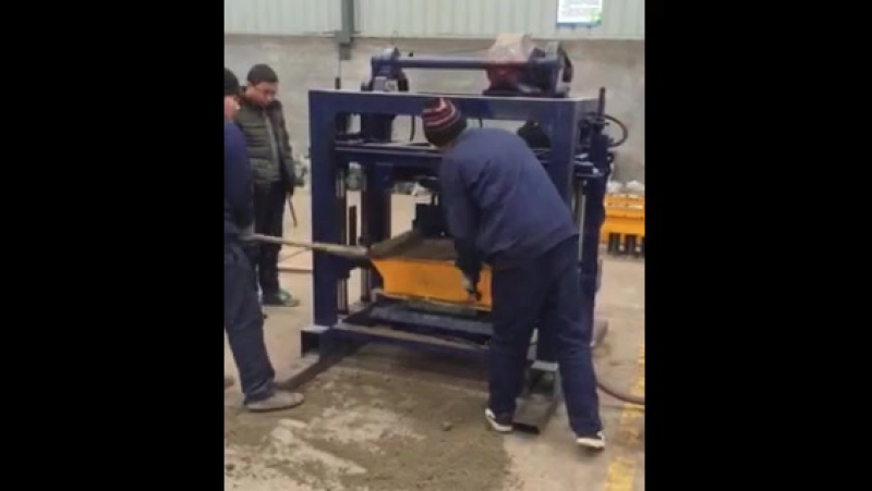 QT40-2 small manual concrete hollow block, solid block, interlocking brick, cabro, cement paving brick making machine