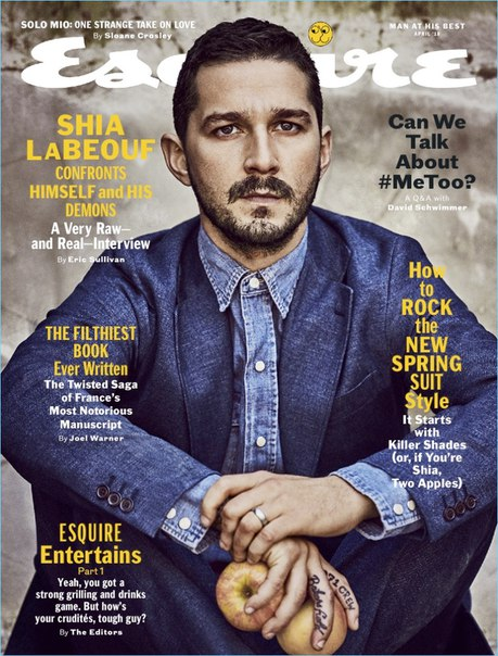 Шайа ЛаБаф стал героем апрельского выпуска журнала Esquire / 2018