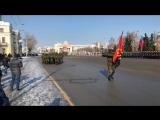 Солдаты из Анголы прошли в параде в Омске ко Дню защитника отечества
