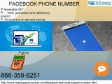 Get Instant Help To Acquire Facebook Phone Number 1-866-359-6251