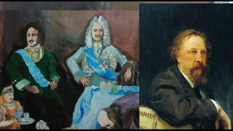 историческая живопись-Пётр Великий после Великого посольства (художник Буянов)