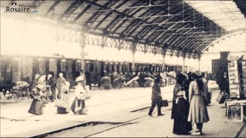 Les trains de pelerinage pour Lourdes