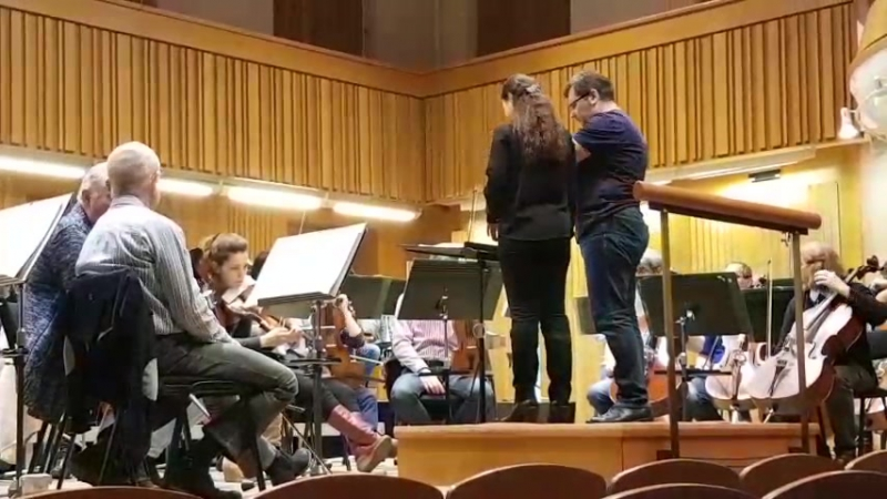 Mozart 41, 3 and 4 rehearsal