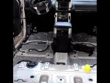 Обзор штатной шумоизоляции пола  Toyota Prado в 150 кузове