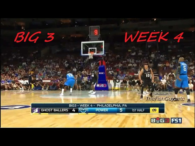 BIG 3 Basketball League Week 4 - Ghost Ballers Vs THE Power