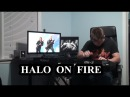 Halo On Fire keyboard drum cover