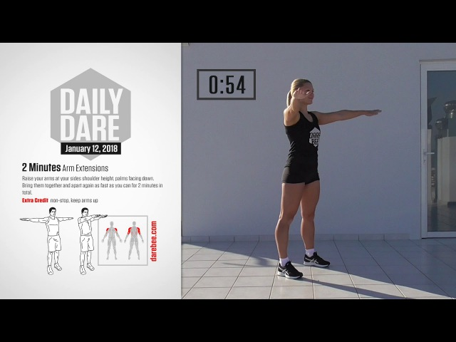 [ Daily Dare ] January 12, 2018: 2 Minutes Arm Extensions