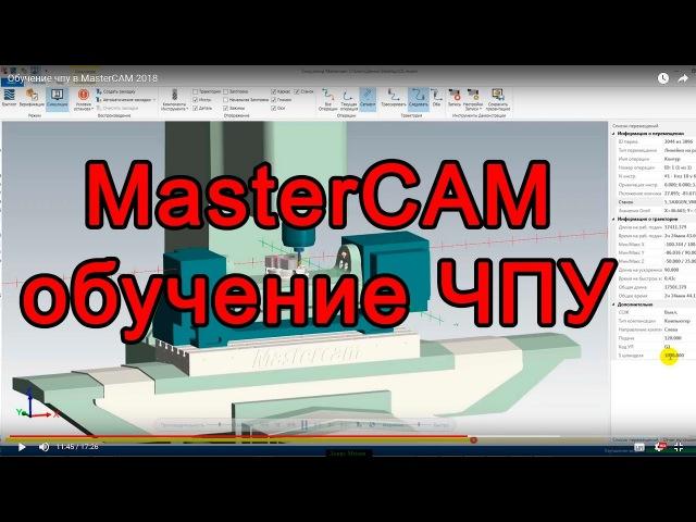 Обучение чпу в MasterCAM 2018