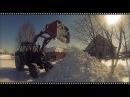 Вычищаем снег со двора ЛТЗ 60АВ с КУНом