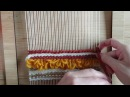 Loom weaving tutorial for beginners: The soumak technique 2