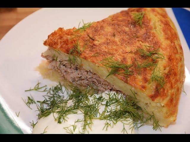 Картофельный Пирог Драник с Фаршем в Мультиварке Скороварке Redmond RMC P350