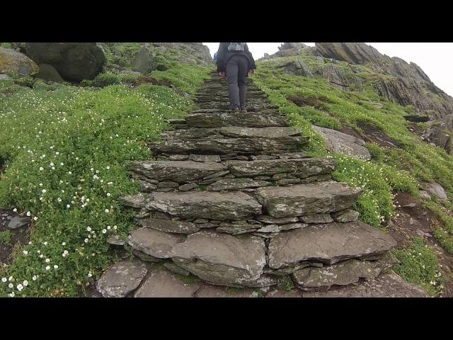 Ascending Skellig Michael