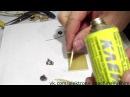 Самодельная монтажная плата с проводниками из проволоки и клея БФ 19 Circuit board
