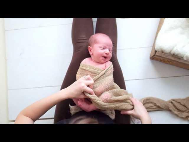 Newborn Pea Pod Wrap Tutorial