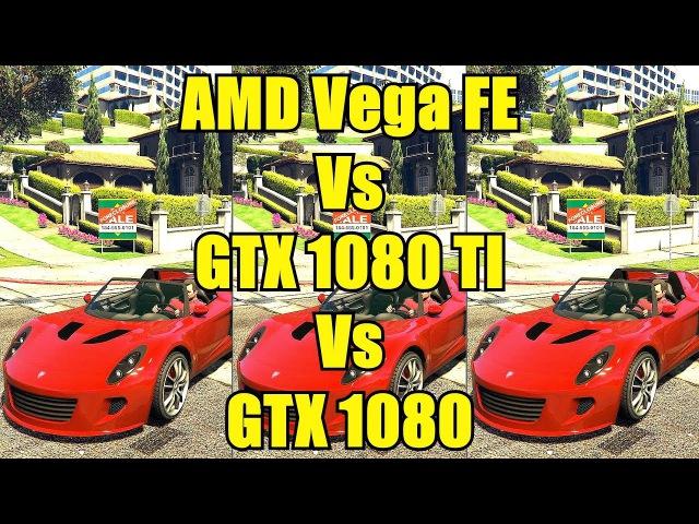 GTA 5 AMD Vega Frontier Edition Vs GTX 1080 TI Vs GTX 1080 1440p Frame Rate Comparison