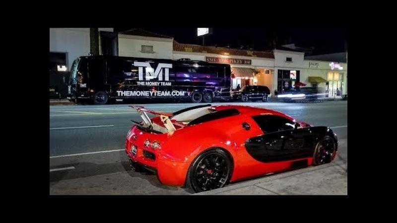 Floyd Mayweather Flexes Supercars with Tyga's Bugatti