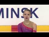 Hanna PAROSHYNA BLR - Ladies Short Program MINSK 2017
