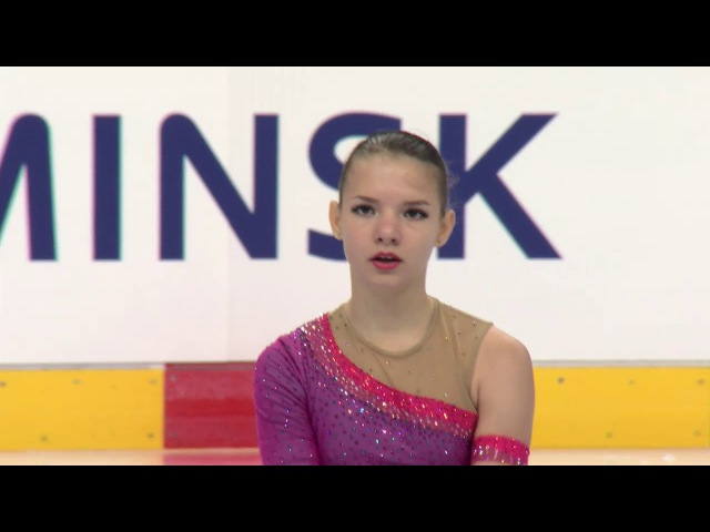 Hanna PAROSHYNA BLR - Ladies Short Program MINSK 2017