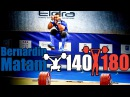 Bernadin Matam 69kg France 140kg Snatch 180kg Clean and Jerk 2017 European Champion