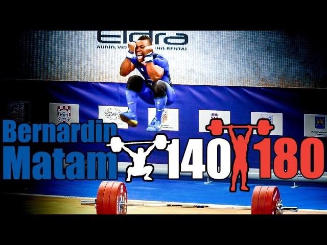 Bernadin Matam (69kg, France) 140kg Snatch 180kg Clean and Jerk - 2017 European Champion