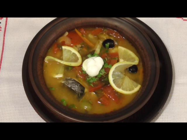 Солянка рыбная в горшочке\Кулинарный рецепт\ Солянка з риби в горщику\Рыбные бл ...