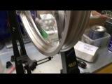 Заднее колесо KTM SX-F 350 2014 позле замены спиц.