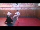 Айкидо: удар ногой и два удара рукой(мае гери дзёдан цки иккё омотэ)