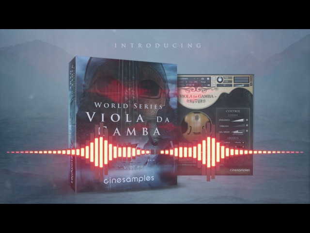 Cinesamples' Viola da Gamba Visualizer
