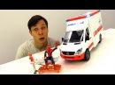 Видео машинки АВАРИЯ в Мастерской 🚑 Скорая Помощь и ЧеловекПаук спешат на пом