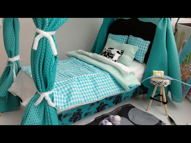 Manualidad :video 2 de 2.Cama para muñecas barbie ♡ DIY barbie doll bed