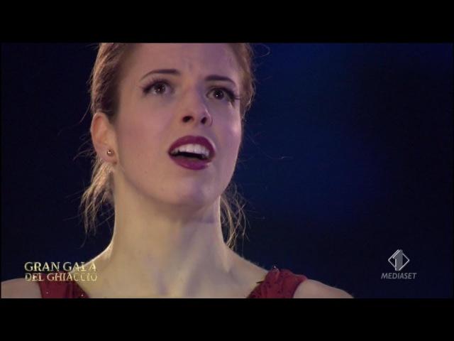 Gran Galà del Ghiaccio 2018 Carolina Kostner EX Ne Me Quitte Pas