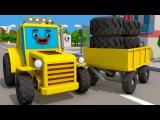 Video for Kids  Construction work digging road  Animacja Dla Dzieci  Roboty Budowlane - Bajki