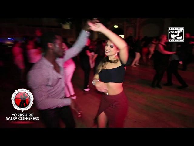 Mouaze Konaté Myrto social dancing @ Yorkshire Salsa Congress 2017