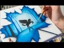 Pegasus in Maple Leaf - Acrylic painting / Homemade Illustration(4k)