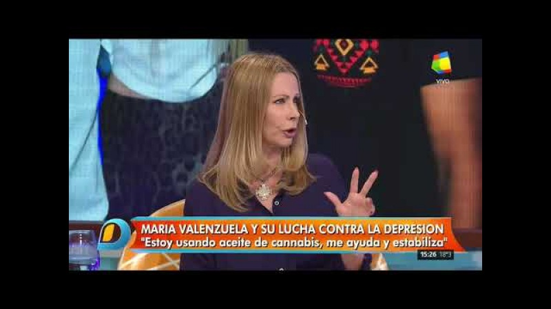 Maria Valenzuela contó que consume aceite de cannabis