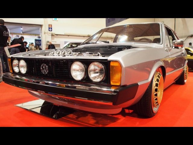 Volkswagen Scirocco 1 1977 2.0L 16V 220 PS Tuning, HR Ultra-Low Fahrwerk, Ronal-Racing R17