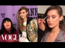 Gigi Bella Hadid Walk In Anna Sui's Fall 2018 Show | Vogue