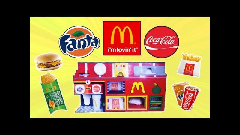 MEGA Ultimate LEGO Mechanical McDonald's Vending Machine | 2 Sodas, D.Cheeseburger, Fries, Apple Pie