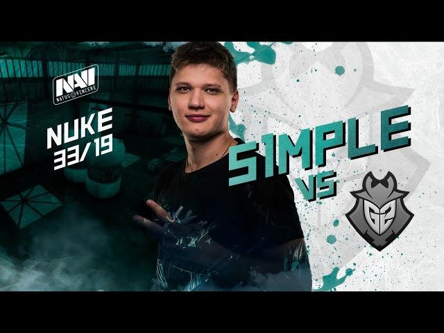 NAVI POV s1mple vs G2 @ ESL Pro League S6 EU